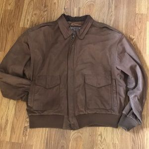 Leather Vintage Bomber Jacket